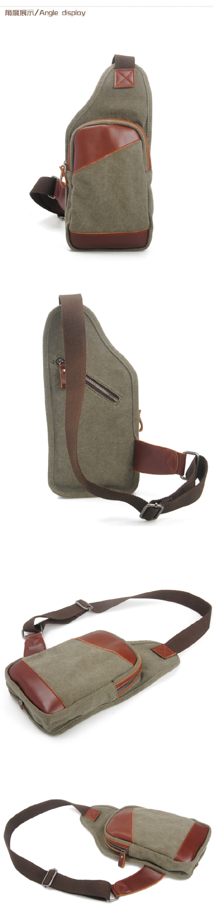 449c2c0eb8c5 2018 Latest Fashion Military Army Green Canvas Bicycle Backpack Single  Shoulder Sling Bag Satchels