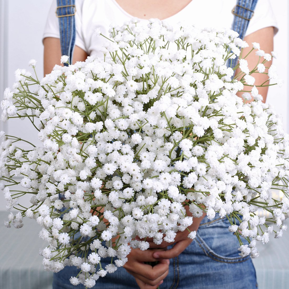 Get Quotations Luyue Artificial Pu Baby Breath Real Touch Flower Gypsophila For Wedding Home Decor Gift White