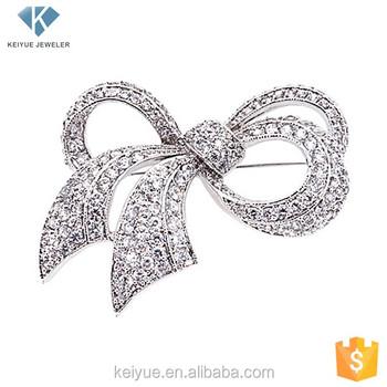 Korea Bow Design Fantastic Wedding Favor Invitation Brooches