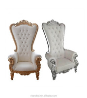 White Royal Wedding Throne Chairs For Bride and Groom Sofa Chair For Sale