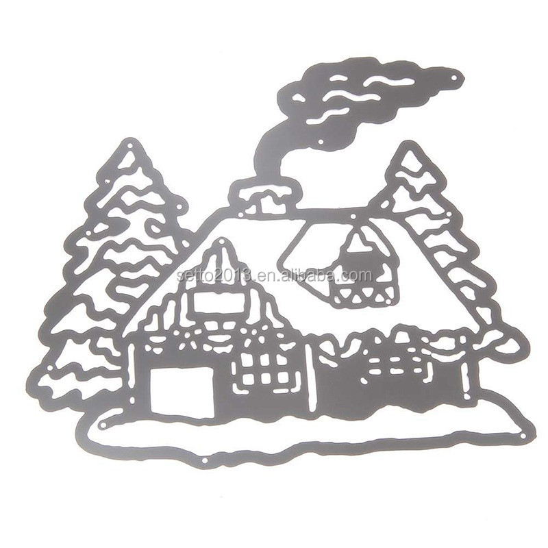 Christmas Gift DIY Santa Claus Chimney House Scrapbooking Dies Metal Embossing Tools Cutting Dies Stencil