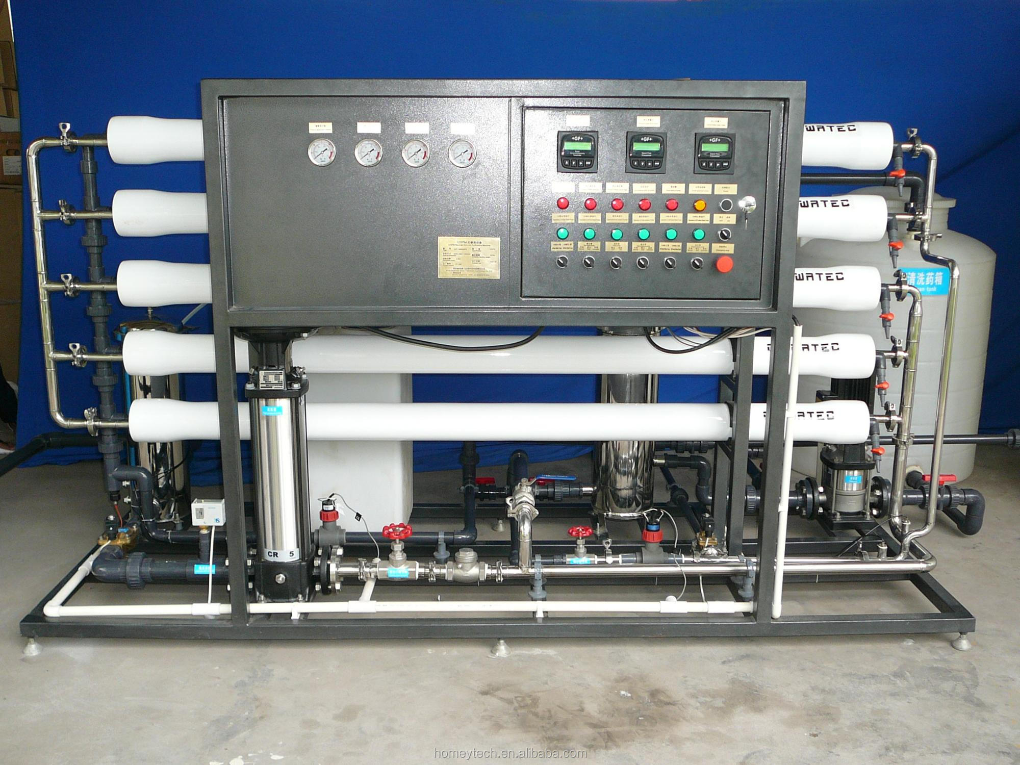 Newest 1 ton drinking water treatment plant/water purifier unit