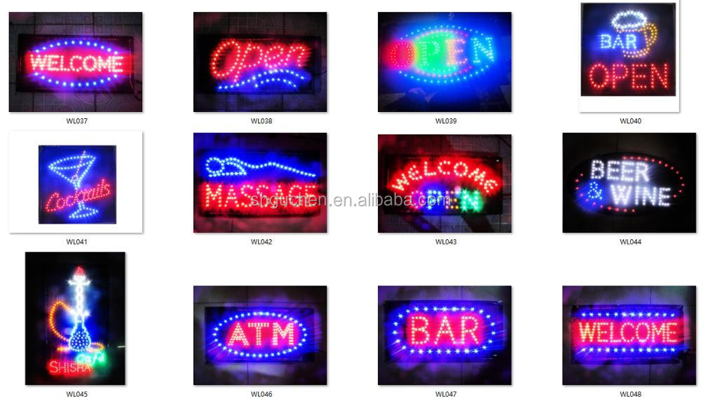 LED ultra bright low price led open sign LED ATM sign