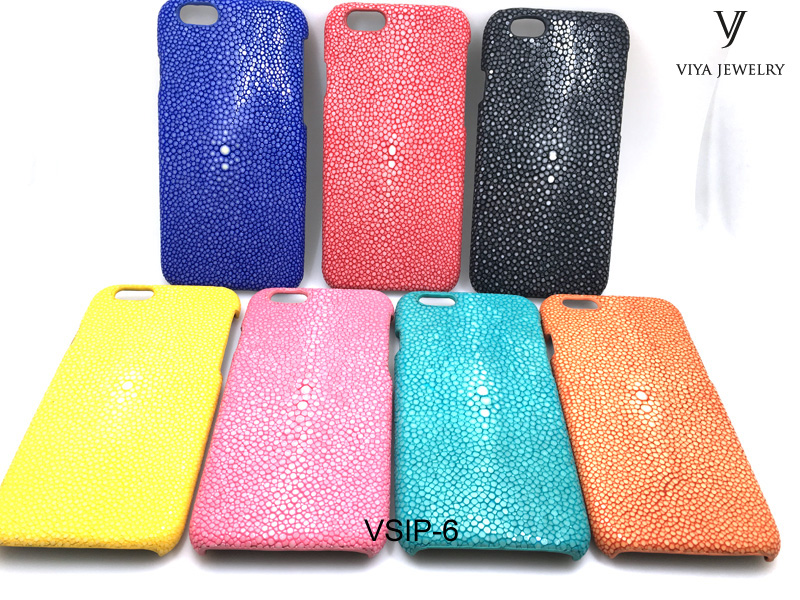 Genuine Stingray leather Phone Case For Mobile Phone