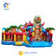 Tiki Island adventure inflatable obstacle course kids inflatable playground game park with slide combo