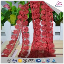 Water soluble polyester charming lace trim