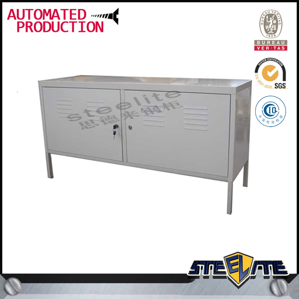 Red And White Steel Ps Tv Cabinet, Metal Tv Stands