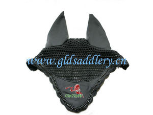 Horse Ear Net with Rhinestone for Decoration