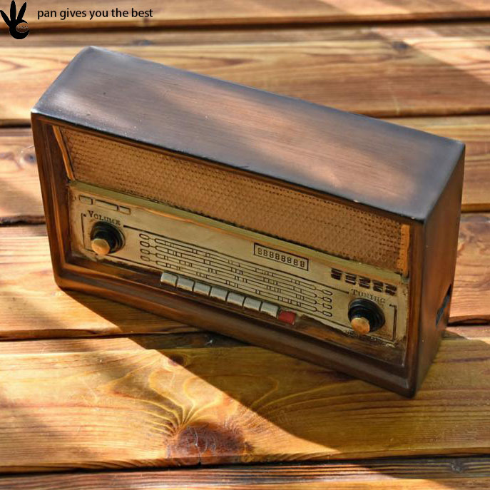 High Quality creative luxury radio solid wooden antique coin box