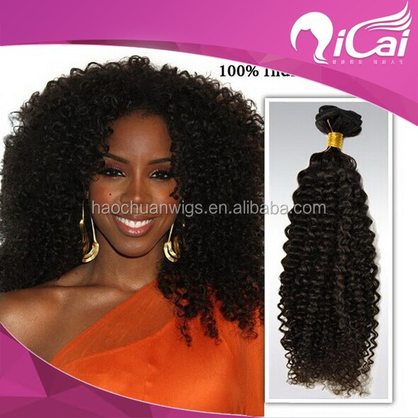 Hot Selling Remy Mongolian Kinky Curly Human Hair Weaving