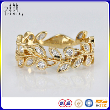 Two Years Guarantee Gold Finger Ring Rings Design For Women With