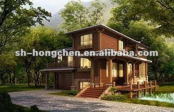 Prefabricated Wooden House Price Pine Wooden Log House Container House