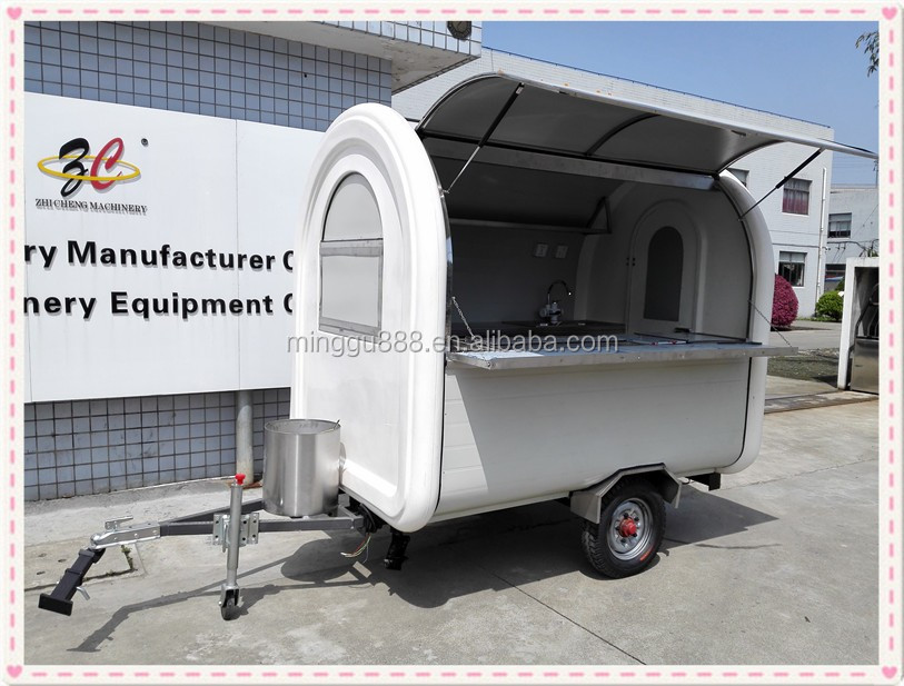 shanghai minggu fabricant remorque snack cart, electric vehicle mini caravan fast food truck, mobile catering van for fast food