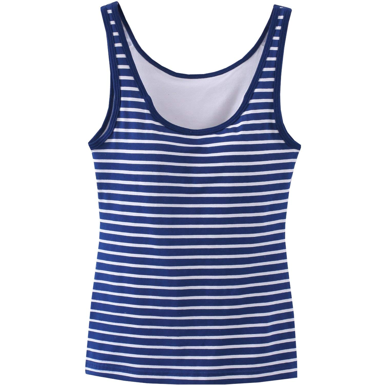 6c388654019dd Get Quotations · Girls Tank Tops Built in Shelf Bra Camisole Sleeveless  Vest Blouse Summer Shirt