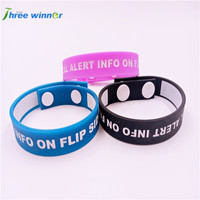 Waterproof swimming silicone kids&adults bracelet