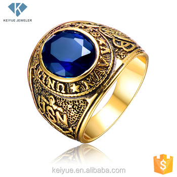 Exquisite Saudi Carving Gold Rings Men S Jewelry With
