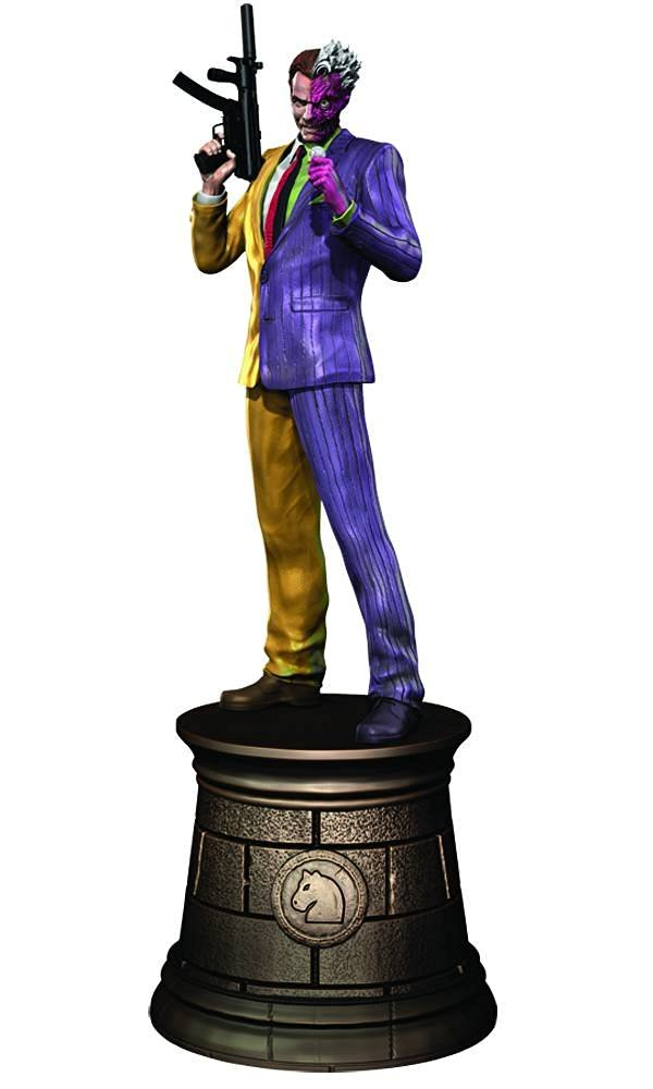 Dc Superhero Batman Chess Collection Magazine #6 Two Face Black Knight by Eaglemoss Publications