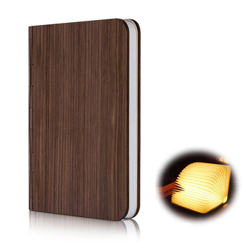 Wooden Book Shaped Table Lamp/FoldingLed Book Lamp/Rechargeable USB Night  Light