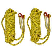 8mm 10mm 10.5mm 11mm 12mm 14mm Static Outdoor Rock Climbing Rope, Fire Escape Safety Rappelling Rope