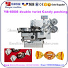 Fully auto YB-600S Double Twist Hard Candy beef cubes Packing Machine