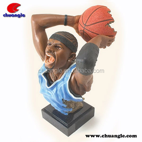 High Quality NBA Star Resin Bust Polyresin Figures for Collection and Decoration