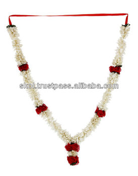 Indian wedding artificial white flower red rose garland indian indian wedding artificial white flower red rose garland indian wedding varmala manufacturer in mumbai mightylinksfo