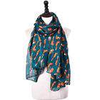2018 new style printing pattern voile material women fashion scarf fox design little prince