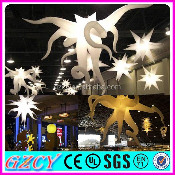 Hot sale trade show decoration inflatable lighting star