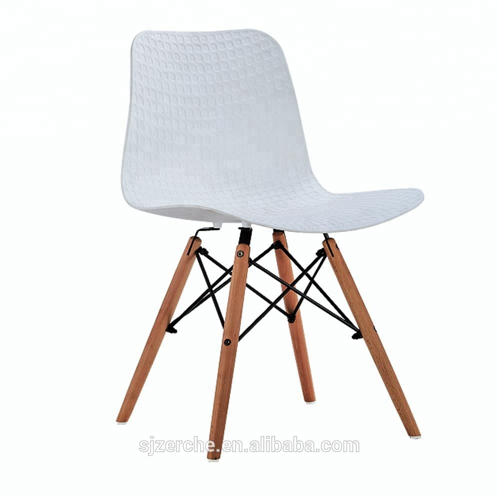 Stable wooden kids plastic chair for children