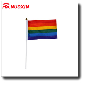 NX Factory Wholesale Small Six Colors Rainbow Hand Flag