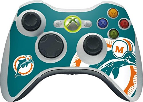NFL Miami Dolphins Xbox 360 Wireless Controller Skin - Miami Dolphins Retro Logo Vinyl Decal Skin For Your Xbox 360 Wireless Controller