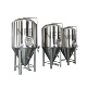 3bbl 7bbl 10bbl beer production plant / factory with hot liquor tank and yeast conical jacked fermenter tank