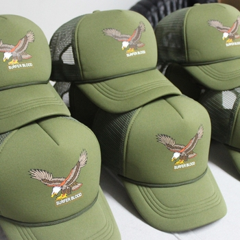 High quality custom screen printed trucker hats