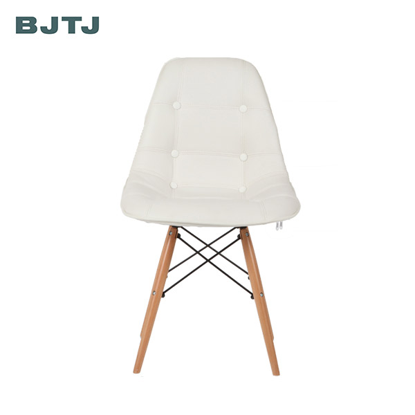 BJTJ Wholesale modern solid oak&beech wood pu leather Brandon dining chair