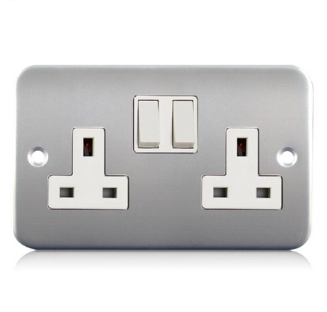 Metal Clad switch <strong>socket</strong> british <strong>standard</strong> wall switch and <strong>socket</strong> OEM