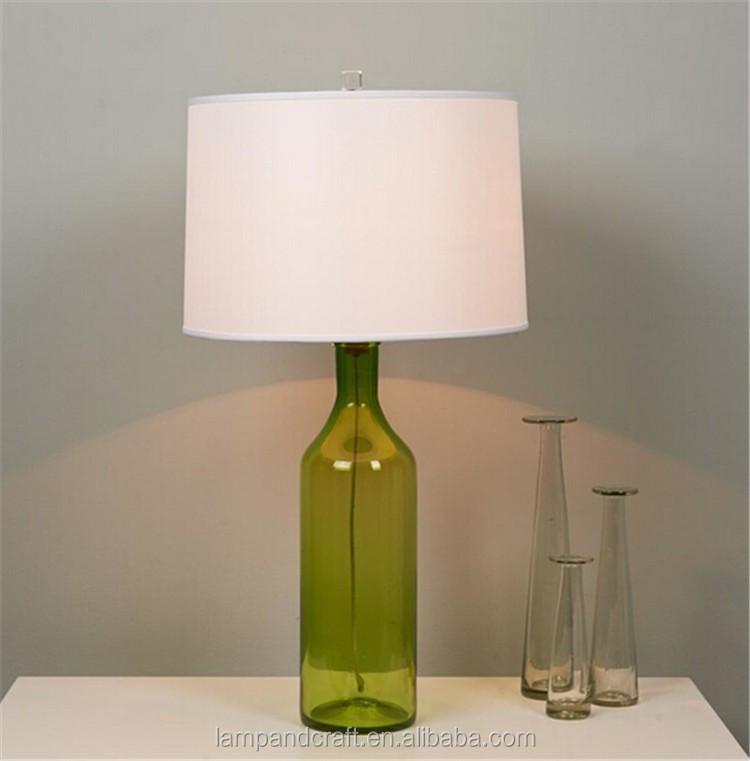 vert bouteille de bi re forme chandelier haute qualit verre lampes de table avec blanc cylindre. Black Bedroom Furniture Sets. Home Design Ideas