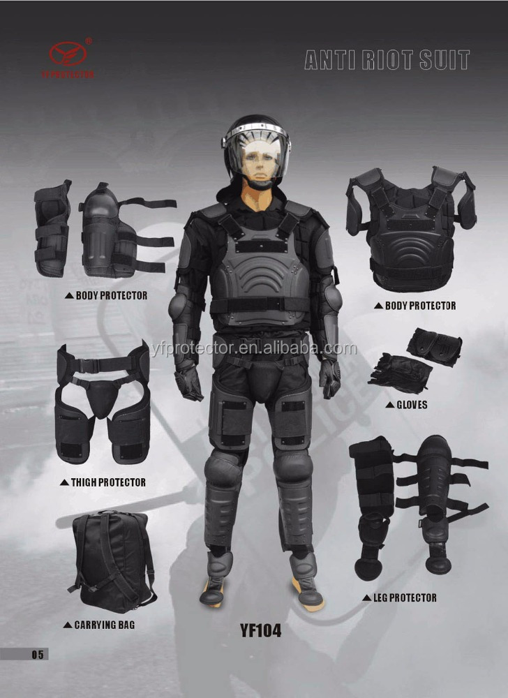 Police light full body protective gear anti riot suit