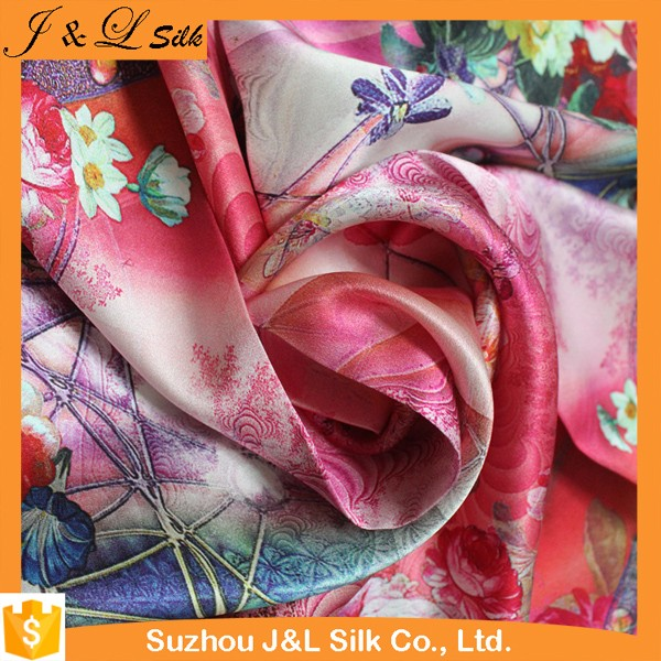 High Quality Custom Satin Silk Fabric Printing