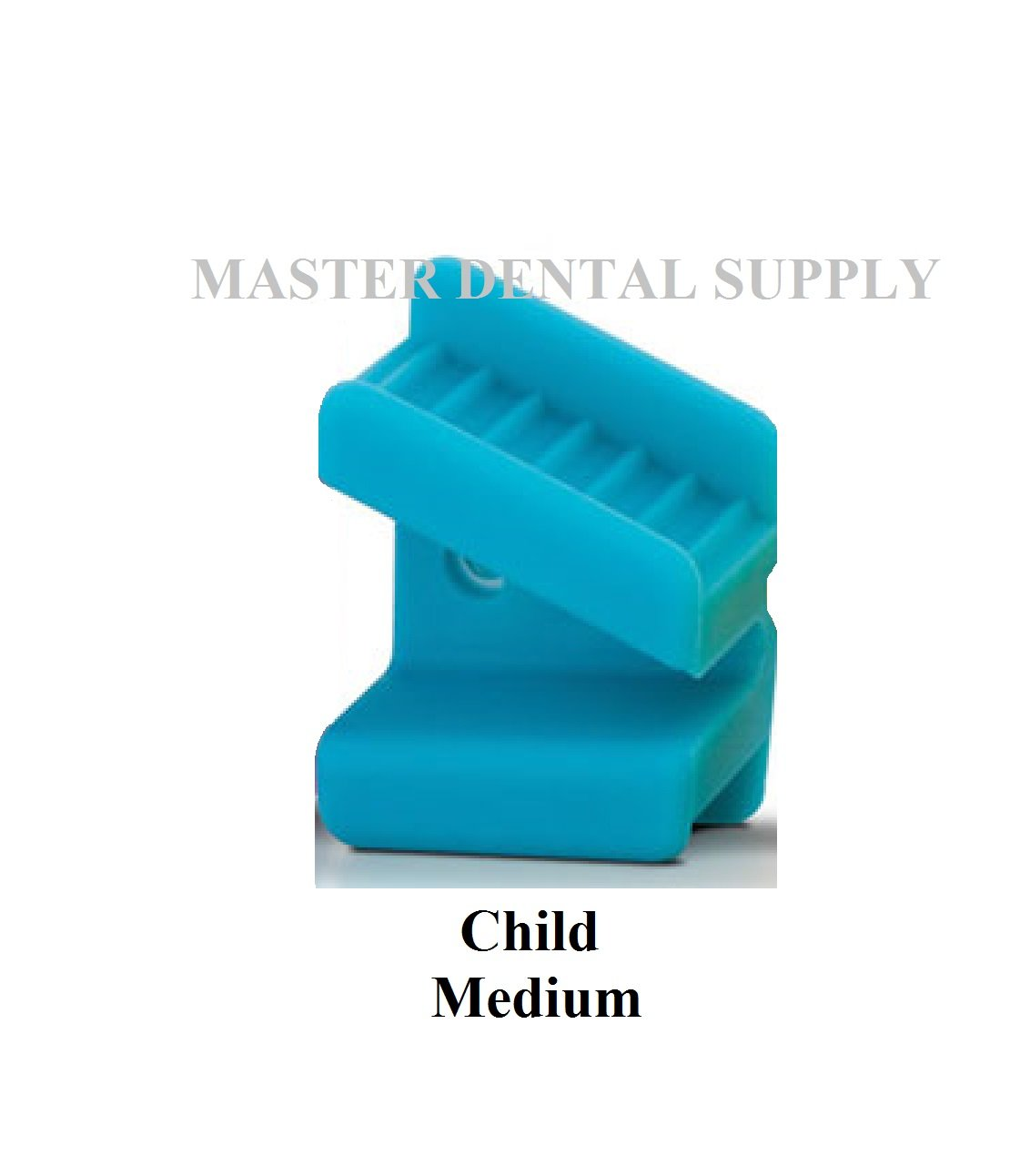Dental Silicone Mouth Prop Bite Block 2 Pcs MEDIUM CHILD Turquoise Color Coded Autoclavable LATEX FREE