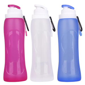 Kean bpa free collapsible silicone water drinking bottle for sport