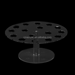 Factory Custom 8-Hole Acrylic Clear Petal Shape Cupcake Ice Cream Cone Display Holder Stand
