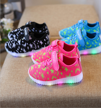 Children Shoes Boy   Girls Casual With LED Lamp Fashion Sport Shoes For Kids  Flash Sneakers 98357c61ec82