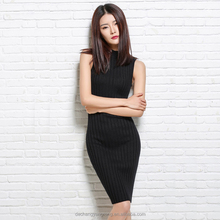 2017 new arrival custom plain knitting women sweater dress