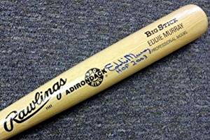 "Eddie Murray Autographed Signed Blonde Rawlings Bat Orioles ""hof 2003"" - PSA/DNA Certified - Autographed MLB Bats"
