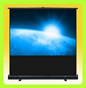 """GHP 80"""" Diagonal 4:3 64""""x49"""" Viewing Area Matte White Floor Pull Up Projection Screen"""