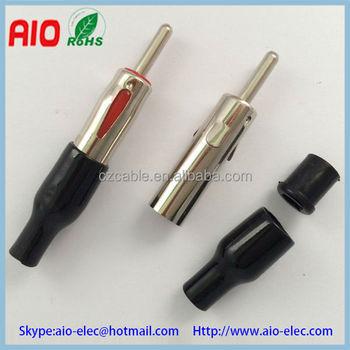 Longer Male Car Radio Iso Aerial Antenna Plug Connectors - Buy Car ...