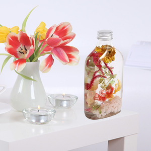 Wedding thank you gifts for guests ,preserved flowers in glass bottle dried flowers in glass
