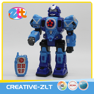 Newest intelligent rc toy fighting robot with sound and light
