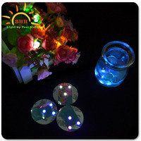 wedding decoration 2015 led light sticker for wine bottle led drink coaster led flashing coaster