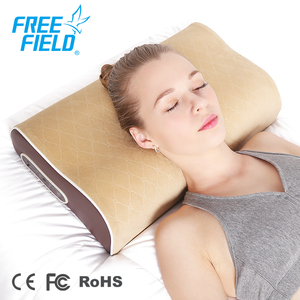 Natural Latex Air Pressure Electric Shiatsu Cervical Neck Massage Pillow With Music